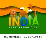 illustration of happy indian... | Shutterstock .eps vector #1266719659