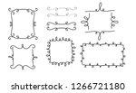 set of vector vintage frames on ...   Shutterstock .eps vector #1266721180