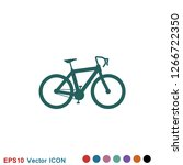 bicycle icon. vector element...   Shutterstock .eps vector #1266722350
