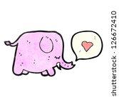 cartoon pink elephant   Shutterstock .eps vector #126672410