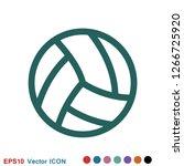 sport ball icon. flat vector... | Shutterstock .eps vector #1266725920