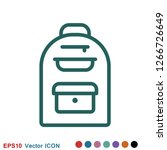 backpack solid icon. luggage...   Shutterstock .eps vector #1266726649