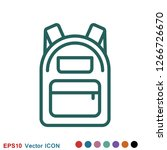 backpack solid icon. luggage... | Shutterstock .eps vector #1266726670