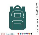 backpack solid icon. luggage...   Shutterstock .eps vector #1266726673