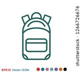 backpack solid icon. luggage...   Shutterstock .eps vector #1266726676