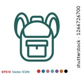 backpack solid icon. luggage...   Shutterstock .eps vector #1266726700