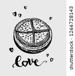 pancake  pita  bread  pizza ... | Shutterstock .eps vector #1266728143