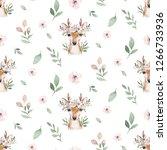 watercolor seamless hand... | Shutterstock . vector #1266733936