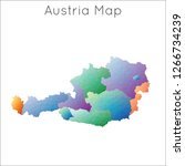 low poly map of austria.... | Shutterstock .eps vector #1266734239