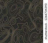 topographic map. actual...   Shutterstock .eps vector #1266734293