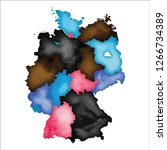 map of germany. colourful...   Shutterstock .eps vector #1266734389