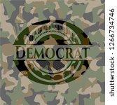 democrat on camo texture | Shutterstock .eps vector #1266734746