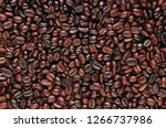 coffee beans. roasted coffee... | Shutterstock . vector #1266737986
