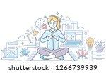 mindfulness   modern line...   Shutterstock .eps vector #1266739939
