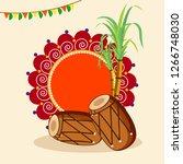 happy lohri design with...   Shutterstock .eps vector #1266748030