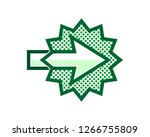green right arrow in the green... | Shutterstock .eps vector #1266755809