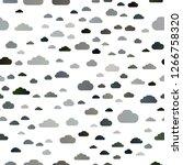 dark black vector seamless... | Shutterstock .eps vector #1266758320