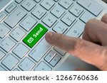 email send button on the... | Shutterstock . vector #1266760636