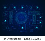 concept of internet of things... | Shutterstock .eps vector #1266761263