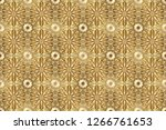 seamless pattern on beige... | Shutterstock . vector #1266761653