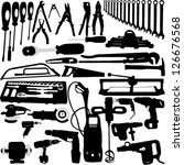 tools silhouettes collection  ... | Shutterstock .eps vector #126676568