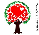 Heart Tree Isolated On White...