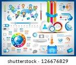 infographic elements   set of...   Shutterstock .eps vector #126676829