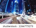 night street at hong kong city. ...   Shutterstock . vector #1266775273