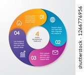circle arrows for infographics. ... | Shutterstock .eps vector #1266776956