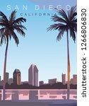 San Diego Moder  Vector...
