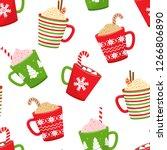 winter holiday seamless pattern ...   Shutterstock .eps vector #1266806890