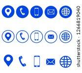 web business icon. vector... | Shutterstock .eps vector #1266819040