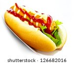 Tasty Hot Dog Isolated On White