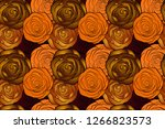small yellow  orange and brown... | Shutterstock . vector #1266823573