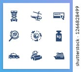 transport icon set and cruise...
