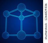 wireframe mesh molecule grid....   Shutterstock .eps vector #1266829336