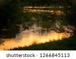 Sunset Over The River. The...