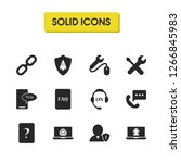 service icons set with tool... | Shutterstock .eps vector #1266845983