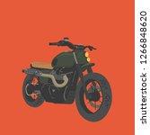 scrambler motorcycle... | Shutterstock .eps vector #1266848620