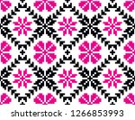 seamless pattern of embroidered ...   Shutterstock .eps vector #1266853993