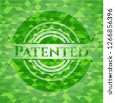 patented green emblem with... | Shutterstock .eps vector #1266856396