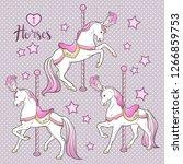 Cute Carousel Horses And Stars...