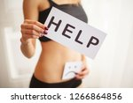 woman health problem. closeup... | Shutterstock . vector #1266864856