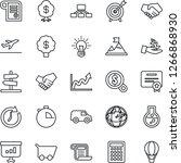 thin line icon set   departure... | Shutterstock .eps vector #1266868930