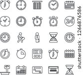 thin line icon set   24 around... | Shutterstock .eps vector #1266876586
