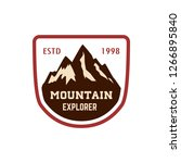 mountain emblem. hiking ... | Shutterstock .eps vector #1266895840