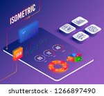 isometric vector. set of... | Shutterstock .eps vector #1266897490