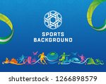uae 2019 abstract sports... | Shutterstock .eps vector #1266898579