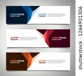 vector abstract banner design... | Shutterstock .eps vector #1266901306