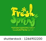 vector bright emblem fresh... | Shutterstock .eps vector #1266902200